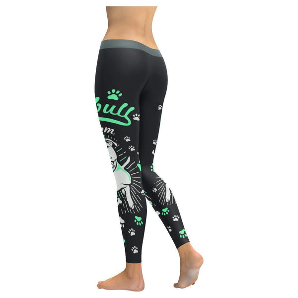 PitBull Mom Nana Soft UPF40+ Moisture Wicking Non See Through Womens Leggings-NeatFind.net