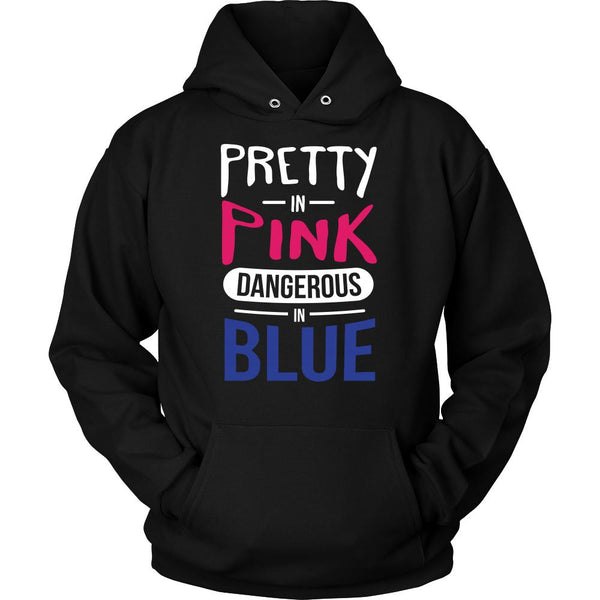 Pretty In Pink Dangerous In Blue Thin Blue Line Blue Lives Matter T-Shirt/Long Sleeve/Crewneck Sweatshirt/Hoodie For Men & Women-NeatFind.net