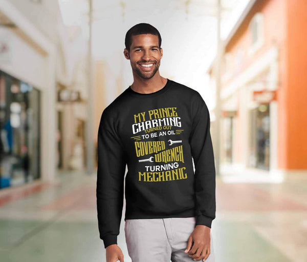 Prince Charming Turned Out To Be An Oil Covered Wrench Turning Mechanic Sweater-NeatFind.net