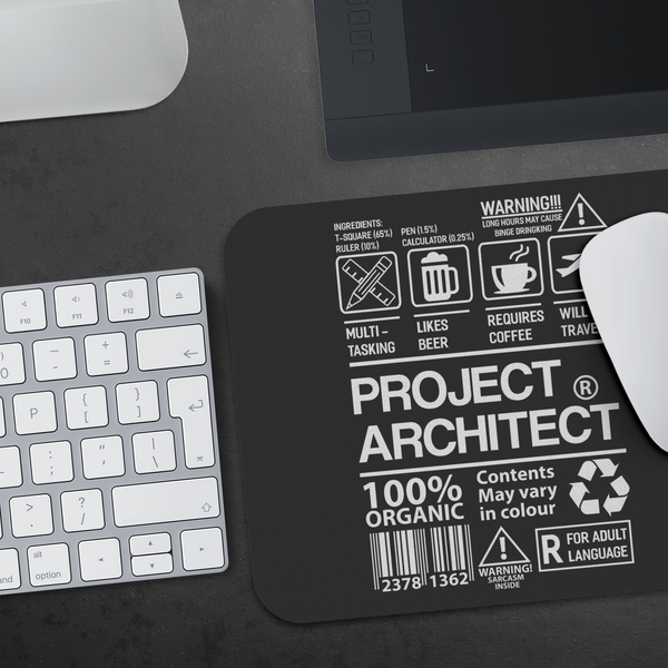 Project Architect Multi Tasking Cool Funny Architecture Student Gifts Mouse Pad-NeatFind.net