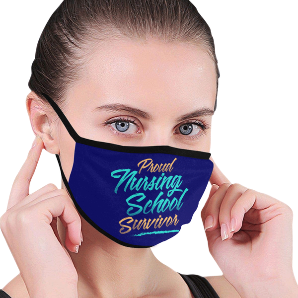 Proud Nursing School Survivor Washable Reusable Cloth Face Mask With Filter-Face Mask-NeatFind.net