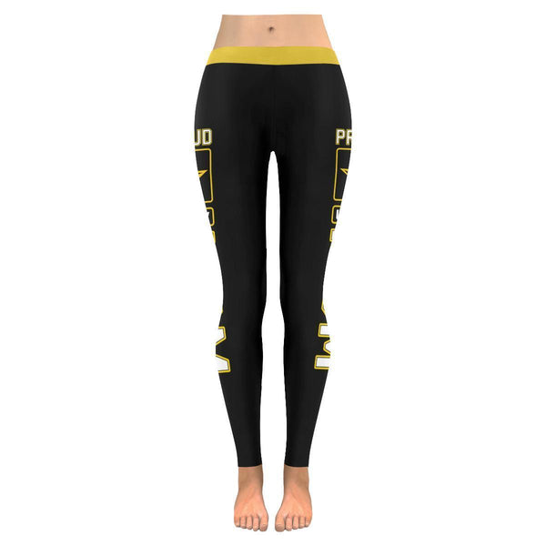 Proud US Army Mom #2 Low Rise Leggings For Women (2 colors)-NeatFind.net