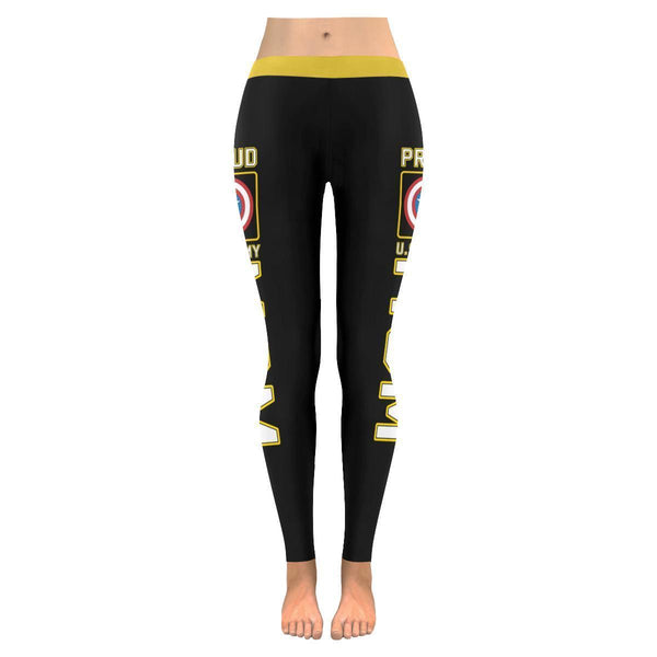 Proud US Army Mom #4 Low Rise Leggings For Women (2 colors)-NeatFind.net
