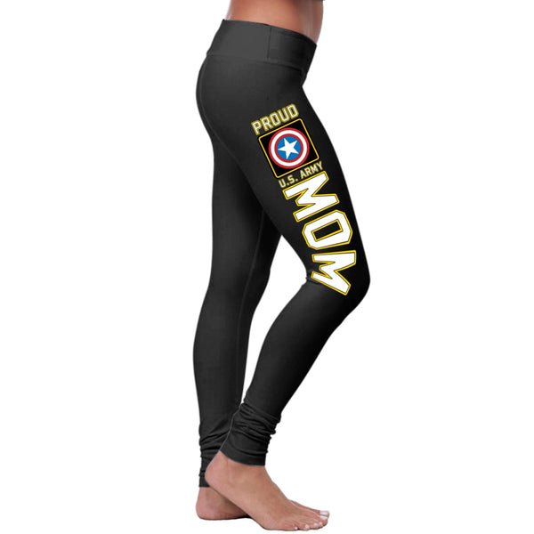 Proud U.S. Army Mom 4.0 Leggings-NeatFind.net
