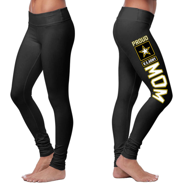 Proud US Army Mom Leggings-NeatFind.net