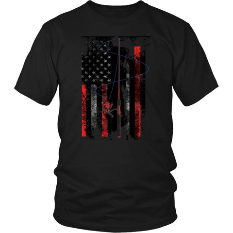 Psychedelic Patriotic USA Pop Art Flag Fishing Reel Pole Hook Cool Gift TShirts-NeatFind.net