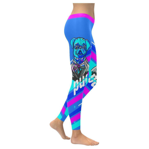 Pug Tuxedo Breathable UPF40+ Moisture Wicking Non See Through Womens Leggings-NeatFind.net