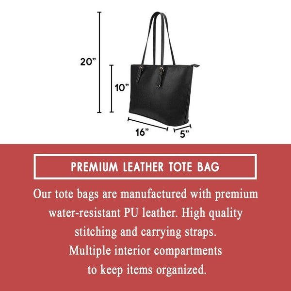 Reading #1 Water Resistant Leather Tote Bags (5 colors)-NeatFind.net