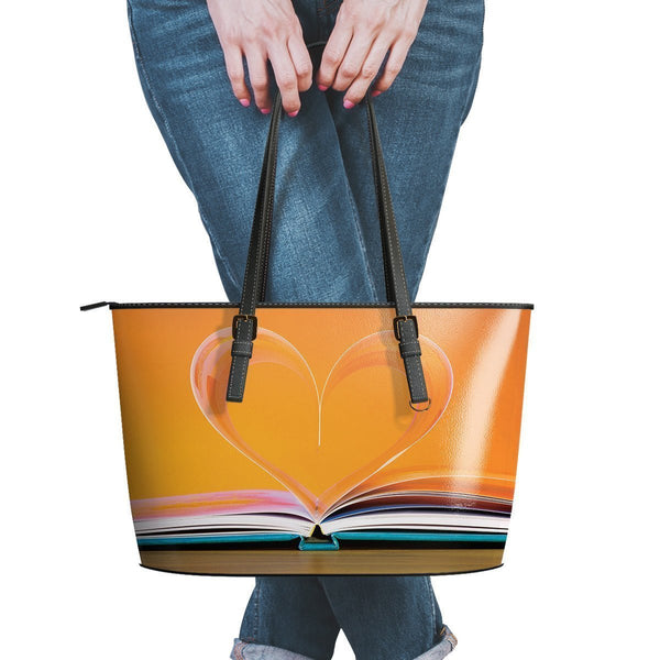 Reading #5 Water Resistant Leather Tote Bags (5 colors)-NeatFind.net