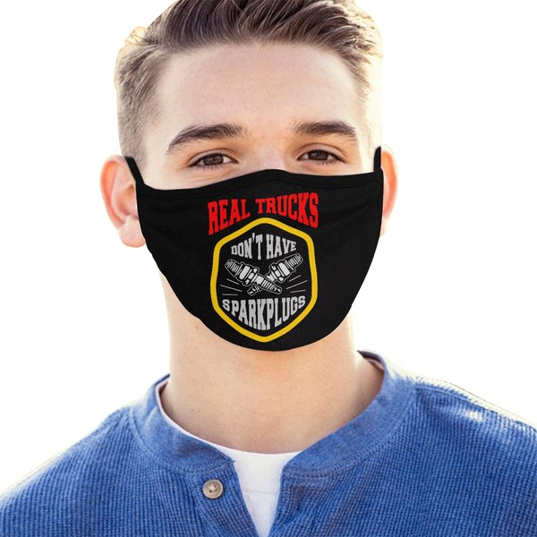 Real Trucks Dont Have Sparkplugs Washable Reusable Cloth Face Mask With Filter-Face Mask-NeatFind.net