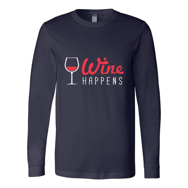 Red Wine Happens T-Shirt For Men & Women-NeatFind.net