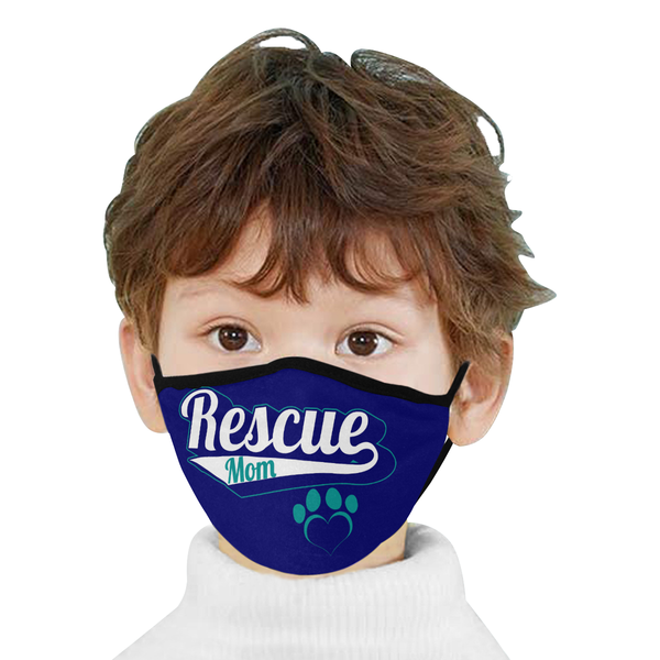 Rescue Mom Funny Washable Reusable Cloth Face Mask With Filter Pocket-Face Mask-NeatFind.net