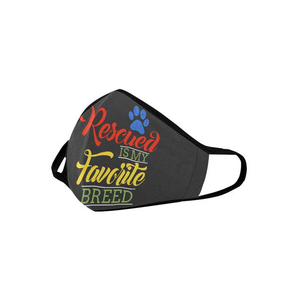 Rescued Is My Favorite Breed Washable Reusable Cloth Face Mask With Filter-Face Mask-NeatFind.net