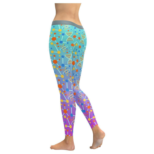 Science #3 Atom, Molecules & DNA Low Rise Leggings For Women (3 colors)-NeatFind.net