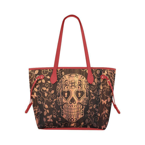 Sleek Water Resistant Canvas Tote bags Sugar Skull #1 (4 colors)-NeatFind.net