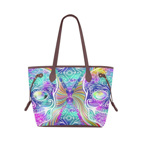 Sleek Water Resistant Canvas Tote bags Sugar Skull #11 (4 colors)-NeatFind.net