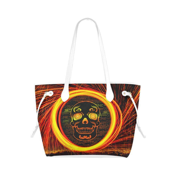 Sleek Water Resistant Canvas Tote bags Sugar Skull #12 (4 colors)-NeatFind.net