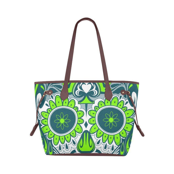 Sleek Water Resistant Canvas Tote bags Sugar Skull #20 (4 colors)-NeatFind.net