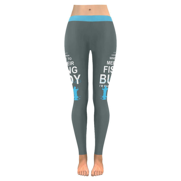 Some People Have To Wait Their Whole Life To Meet Their Fishing Buddy I'm Raising Mine V2 Low Rise Leggings For Women (3 colors)-NeatFind.net