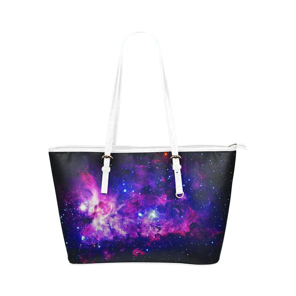 Space Water Resistant Small Leather Tote Bags (5 colors)-NeatFind.net