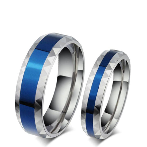 Stainless Steel Thin Blue Line Rings For Men(6mm) & Women(4mm)-NeatFind.net