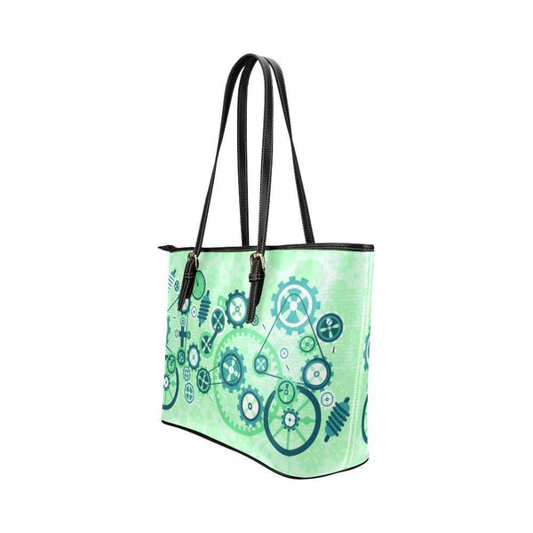 Steampunk #3 Water Resistant Leather Tote Bags (5 colors)-NeatFind.net