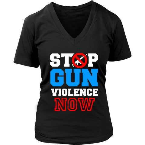 Stop Gun Violence Now Anti NRA Merchandise March For Our Lives VNeck TShirt-NeatFind.net