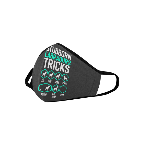 Stubborn Labradors Tricks Washable Reusable Cloth Face Mask With Filter Pocket-Face Mask-NeatFind.net