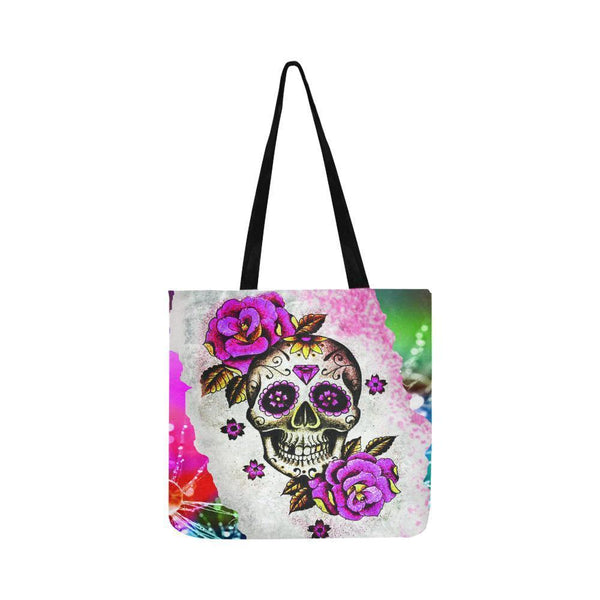 Sugar Skull #1-#10 Reusable/Water Resistant Shopping Bags For Women (10 styles)-NeatFind.net