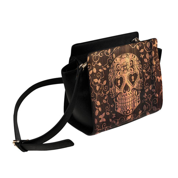 Sugar Skull #1 Satchel Bag For Women-NeatFind.net