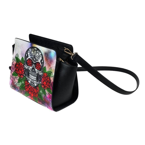 Sugar Skull #10 Satchel Bag For Women-NeatFind.net