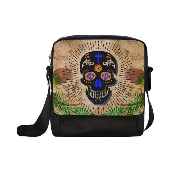Sugar Skull #11-#15 CrossBody Water Resistant Nylon Bags For Women (5 styles)-NeatFind.net