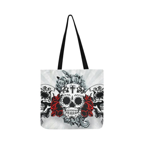 Sugar Skull #11-#20 Reusable/Water Resistant Shopping Bags (10 styles)-NeatFind.net