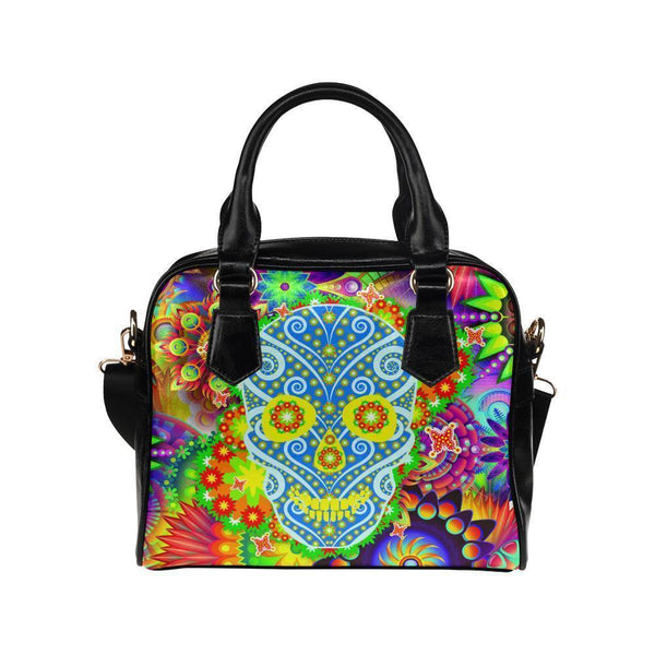 Sugar Skull #15 Shoulder Handbag For Women-NeatFind.net