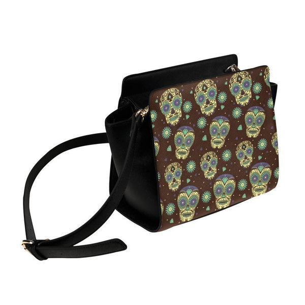 Sugar Skull #17 Satchel Bag For Women-NeatFind.net