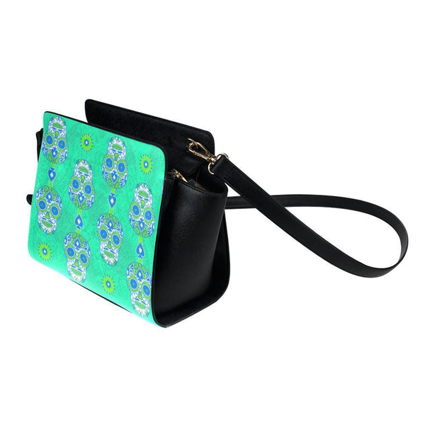 Sugar Skull #18 Satchel Bag For Women-NeatFind.net
