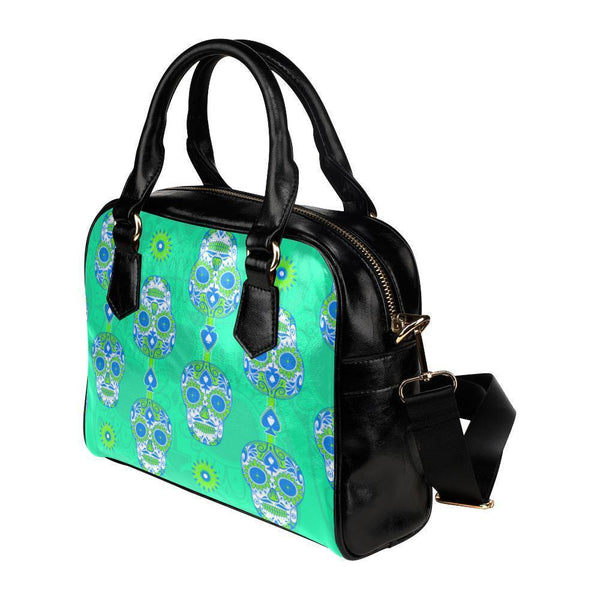 Sugar Skull #18 Shoulder Handbag For Women-NeatFind.net