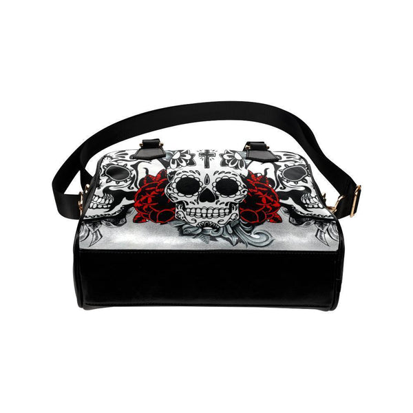 Sugar Skull #3 Shoulder Handbag For Women-NeatFind.net