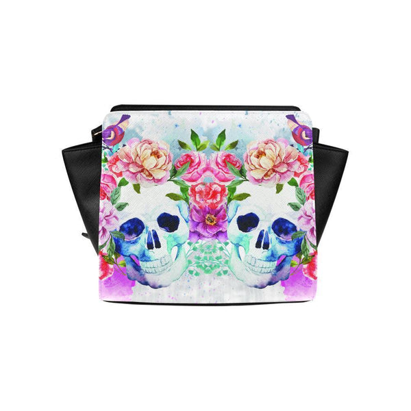 Sugar Skull #4 Satchel Bag For Women-NeatFind.net