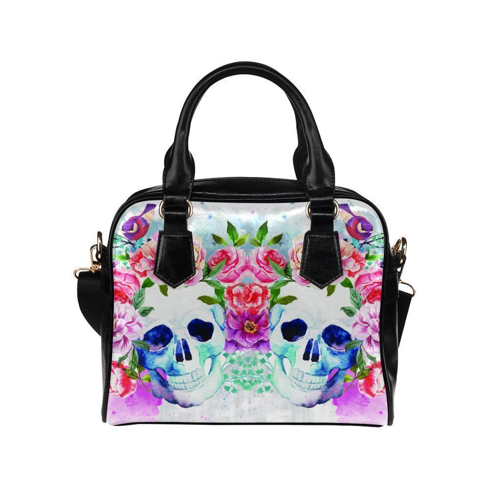 Sugar Skull #4 Shoulder Handbag For Women-NeatFind.net