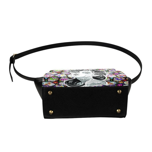 Sugar Skull #5 Satchel Bag For Women-NeatFind.net