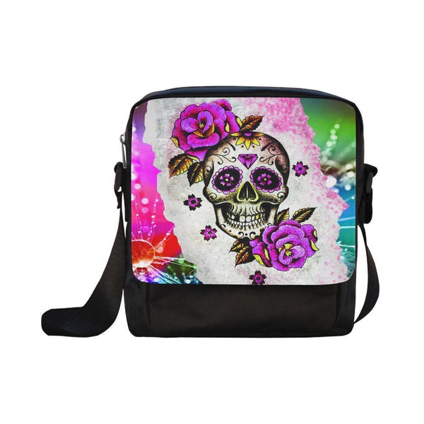 Sugar Skull #6-#10 CrossBody Water Resistant Nylon Bags For Women (5 styles)-NeatFind.net