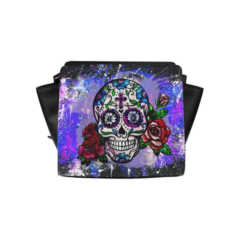 Sugar Skull #6 Satchel Bag For Women-NeatFind.net