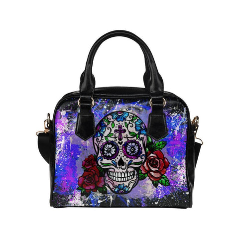 Sugar Skull #6 Shoulder Handbag For Women-NeatFind.net