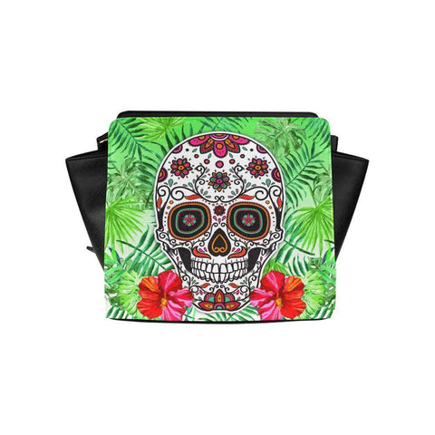 Sugar Skull #7 Satchel Bag For Women-NeatFind.net