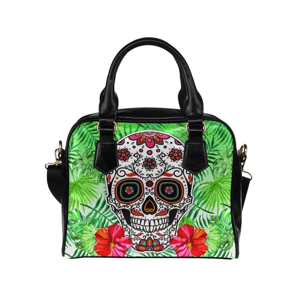 Sugar Skull #7 Shoulder Handbag For Women-NeatFind.net