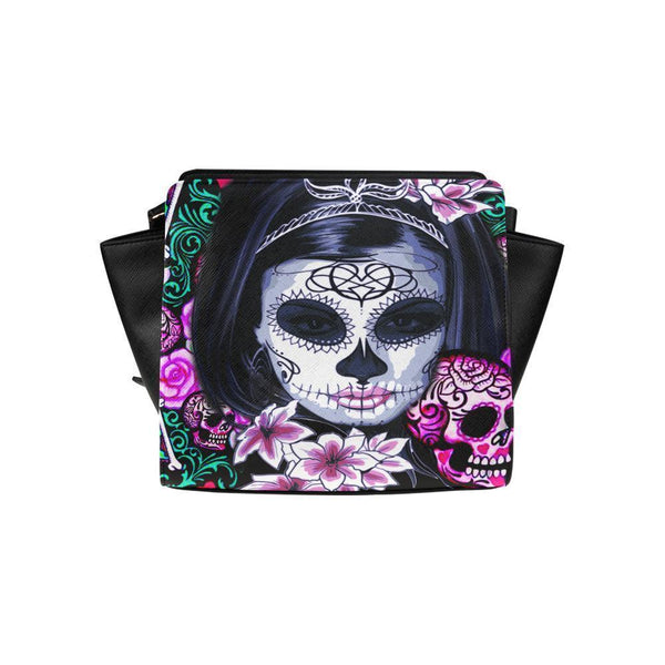 Sugar Skull #8 Satchel Bag For Women-NeatFind.net