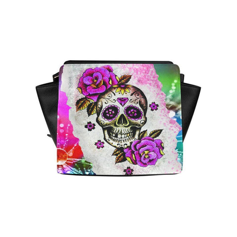 Sugar Skull #9 Satchel Bag For Women-NeatFind.net