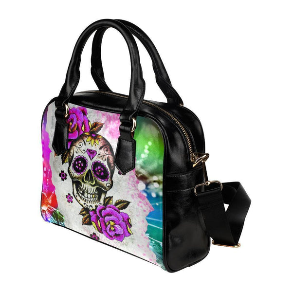Sugar Skull #9 Shoulder Handbag For Women-NeatFind.net