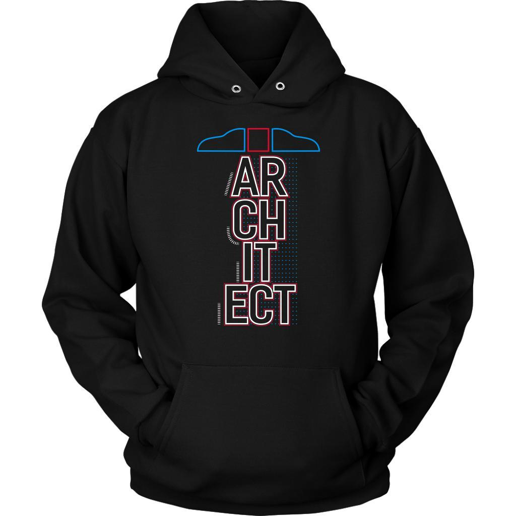T Square Architect Cool Unique Uncommon Funny Gag Humor Gift Ideas Hoodie-NeatFind.net